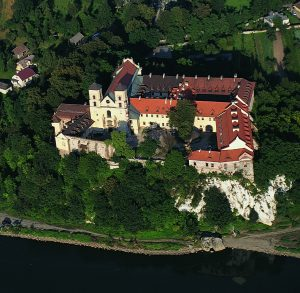 Tyniec - klasztor, widok z lotu ptaka